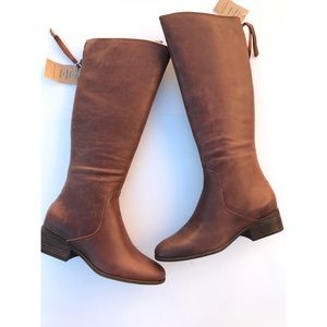 Lucky Brand Sz 11 Lanesha Riding Boots Tobacco